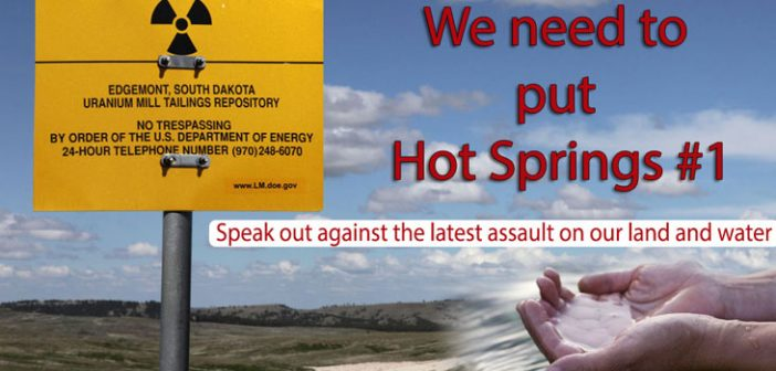 Stop Uranium Mining in Hot Springs South Dakota