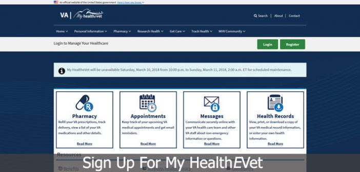 Sign Up For My HealthEVet