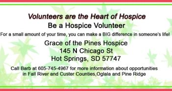 Grace of the Pines Hospice located in Hot Springs, South Dakota provides end of life care for those who are terminally ill.