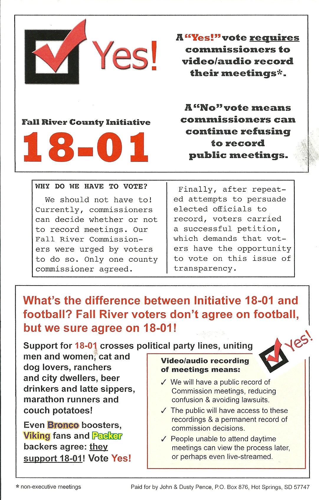 Fall River County Initiated Measure 18-01